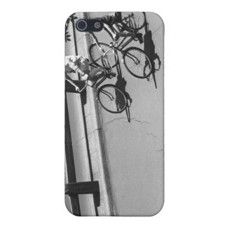 Ciclo del hombre y del muchacho iPhone 5 carcasa