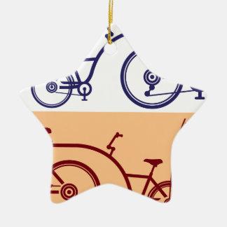 Ciclo del remolque. Accesorio de la bicicleta. Adorno Navideño De Cerámica En Forma De Estrella