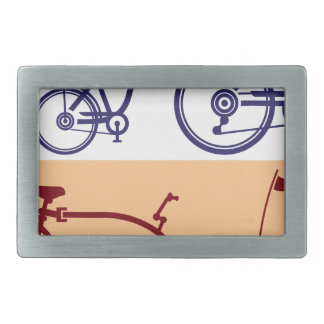 Ciclo del remolque. Accesorio de la bicicleta. Hebilla De Cinturón Rectangular
