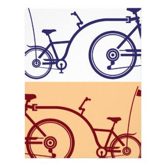 Ciclo del remolque. Accesorio de la bicicleta. Membrete Personalizado