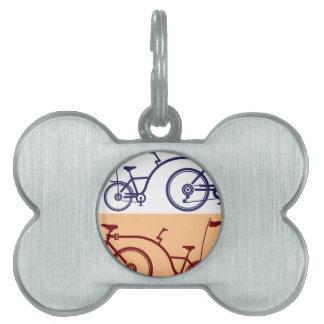 Ciclo del remolque. Accesorio de la bicicleta. Placas De Mascota