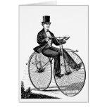 Ciclo del Victorian de la bicicleta de la rueda gr Felicitaciones