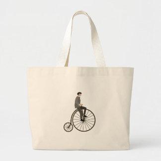 Ciclo del vintage bolsa tela grande