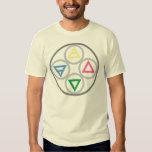Ciclo elemental de los cuatro elementos remera