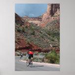 Ciclo en el monumento nacional de Colorado Impresiones