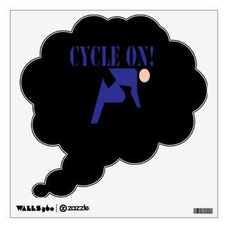 Ciclo encendido vinilo decorativo