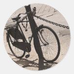 Ciclo Miami de ciclo que monta en bicicleta la Pegatina Redonda
