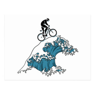 Ciclo montando la onda postal