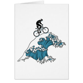 Ciclo montando la onda tarjeta de felicitación