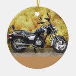 Ciclo negro en callejón del Grunge Ornaments Para Arbol De Navidad