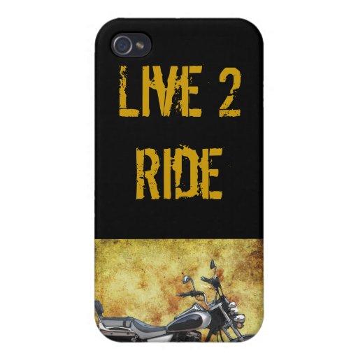 Ciclo negro en callejón del Grunge iPhone 4 Carcasa