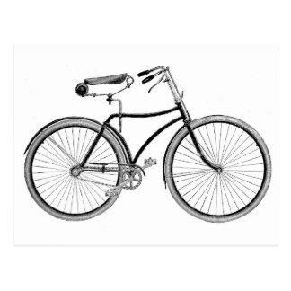 Ciclo pasado de moda de la bicicleta de la bici de tarjeta postal