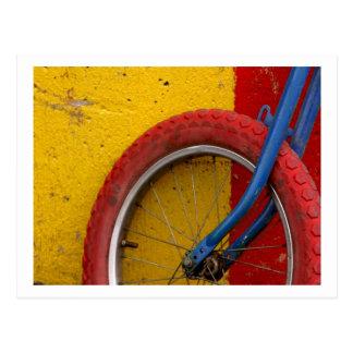 Ciclo que monta en bicicleta del ciclo de la tarjetas postales