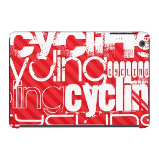 Ciclo; Rayas del rojo del escarlata Funda De iPad Mini