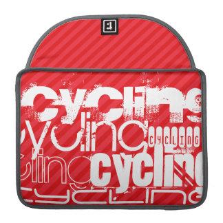 Ciclo; Rayas del rojo del escarlata Funda Para Macbook Pro