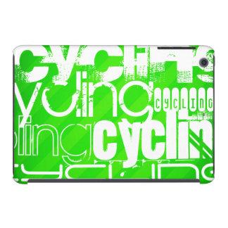 Ciclo; Rayas verdes de neón Funda De iPad Mini