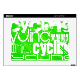 Ciclo; Rayas verdes de neón Skins Para 38,1cm Portátiles