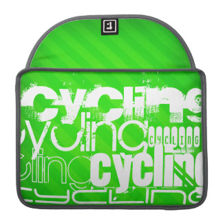 Ciclo; Rayas verdes de neón Fundas Para Macbook Pro
