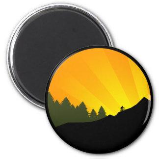 ciclo: rayz de la montaña: imán redondo 5 cm