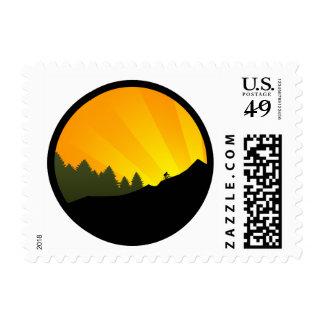 ciclo: rayz de la montaña: sello postal