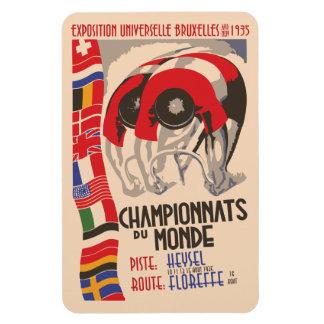 Ciclo retro del diseño del art déco de los años 30 iman flexible