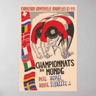 Ciclo retro del diseño del art déco de los años 30 posters