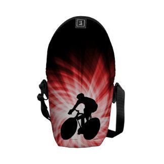 Ciclo rojo bolsa messenger