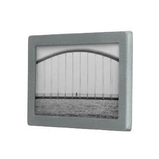 Ciclo sobre el puente hebillas cinturón rectangulares