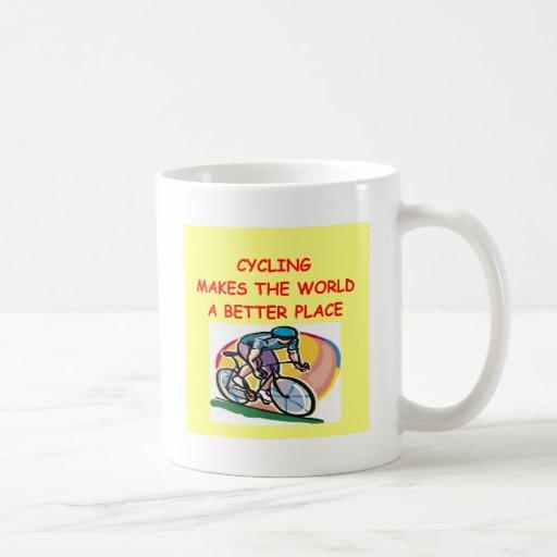 ciclo tazas de café