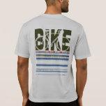 ciclo. una moda elegante de la bici camisetas