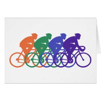 Ciclo (varón) tarjeta de felicitación