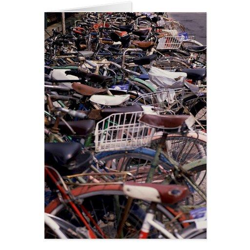 Ciclo Venecia de ciclo que monta en bicicleta Ital Felicitacion
