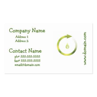 Ciclo verde tarjetas de negocios