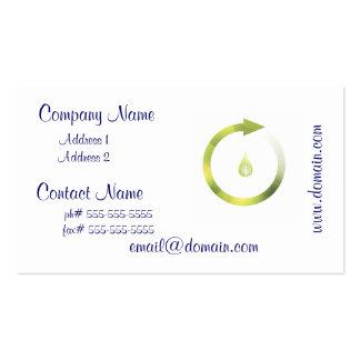 Ciclo verde tarjetas personales