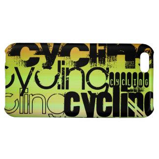 Ciclo; Verde vibrante, naranja, y amarillo