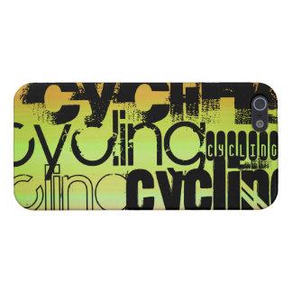 Ciclo; Verde vibrante, naranja, y amarillo iPhone 5 Fundas