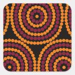 Ciclo vital aborigen pegatina cuadrada