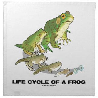 Ciclo vital de una rana (del huevo al Tadpole a la Servilleta De Papel