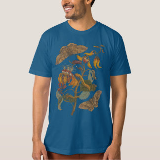 Ciclo vital orgánico de la mariposa de la camiseta playera
