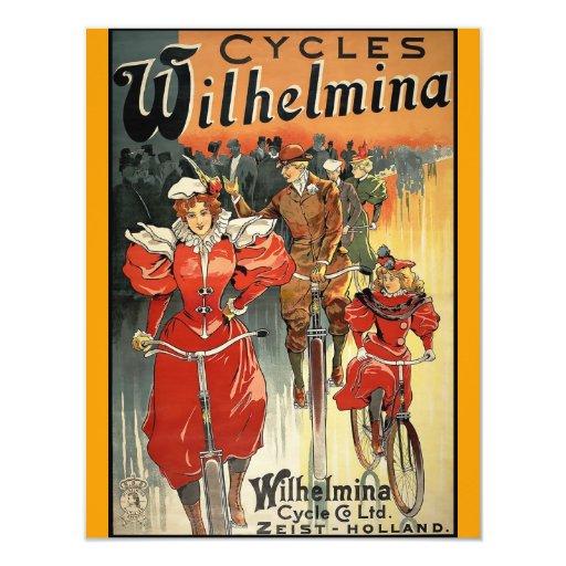 """Ciclo y Co. Ltd. Zeist-Holanda de Wilhelmina Invitación 4.25"""" X 5.5"""""""