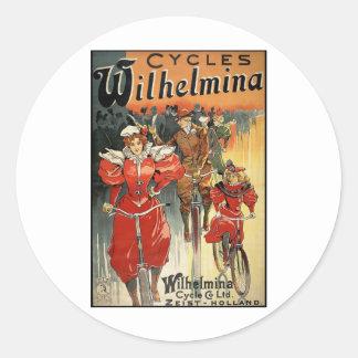 Ciclo y Co. Ltd. Zeist-Holanda de Wilhelmina Etiquetas Redondas