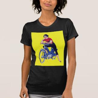 Ciclomotor galón de la motocicleta de las mujeres playera