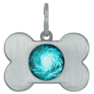 Ciclón azul placas de nombre de mascota