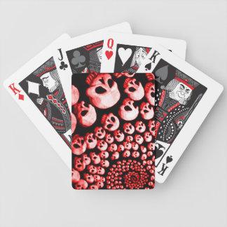 Ciclón del cráneo barajas de cartas