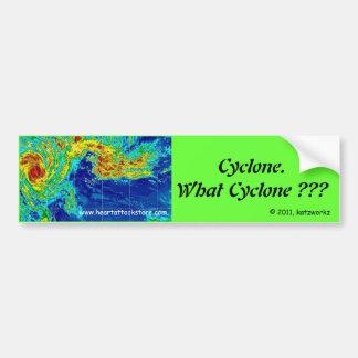 ¿Ciclón, qué ciclón? Etiqueta De Parachoque