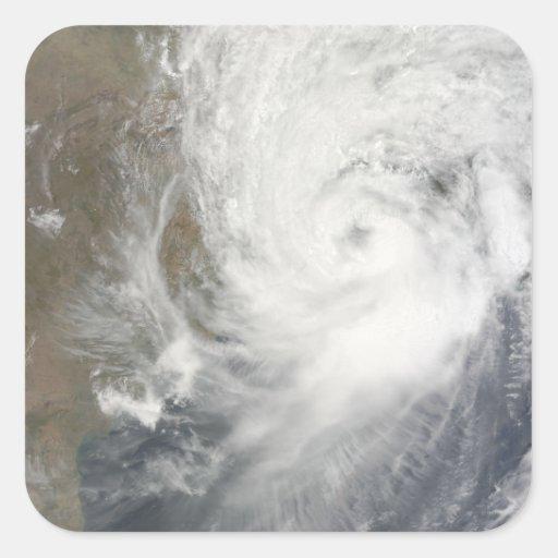 Ciclón tropical Aila Pegatina Cuadrada