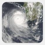 Ciclón tropical Favio de Madagascar Pegatina Cuadrada
