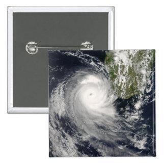 Ciclón tropical Favio de Madagascar Pin Cuadrado
