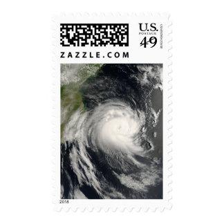 Ciclón tropical Favio que se acerca a Mozambique Sello
