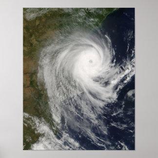 Ciclón tropical Favio sobre Mozambique Póster